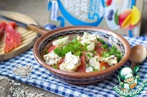 Рецепт Каша из пяти злаков с лососем и яйцом