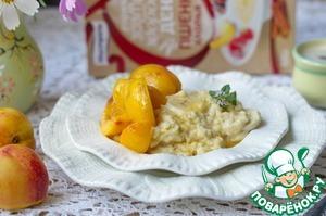 Рецепт Каша из пшенных хлопьев с абрикосами