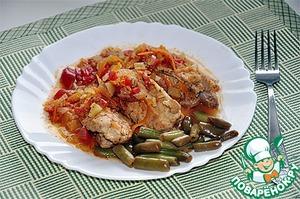 Рецепт Тушеные ребрышки с овощами