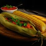 Рыба в мексиканском стиле с острой кукурузой