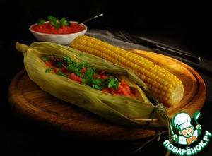 Рецепт Рыба в мексиканском стиле с острой кукурузой