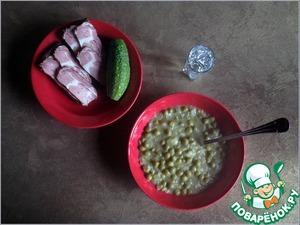 Рецепт Зелёный горошек по-сербски