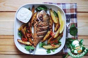 Рецепт Дорада с картофелем и соусом тар-тар
