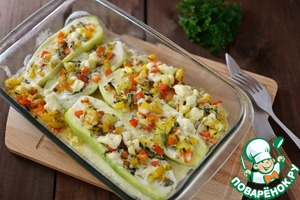 Рецепт Лодочки из кабачков цуккини