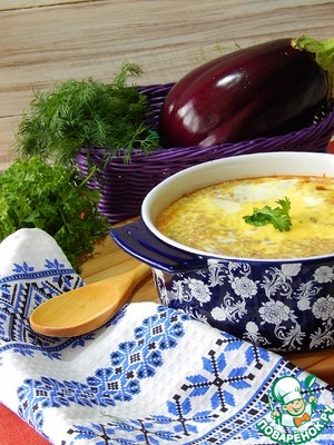Рецепт Запеканка гречневая с баклажанами