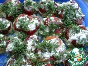 Рецепт Закуска из кабачков и помидор