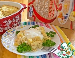 Рецепт Капустная запеканка с овсянкой и кабачком