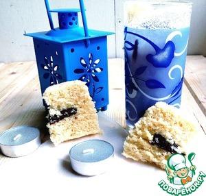 Рецепт Ванильный кекс с шоколадом в СВЧ