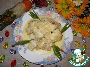 Рецепт Рыба в сырно-молочном соусе