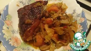 Рецепт Овощи с копченой курицей в духовке