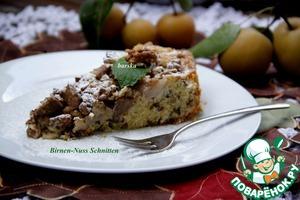 Рецепт Грушево-ореховый пирог