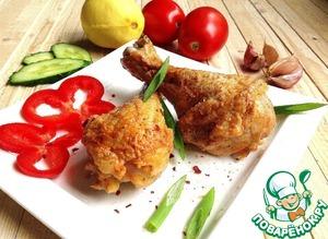 Рецепт Куриные голени с паприкой и лимоном СВЧ