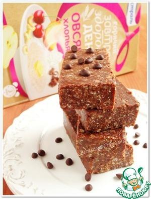 Рецепт Шоколадные батончики с овсяными хлопьями