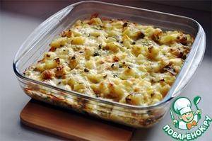 Рецепт Картофельно-луковая запеканка