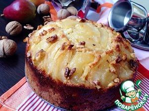 Рецепт Пирог с карамелизированными грушами