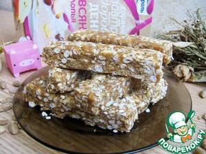 Рецепт Батончики с арахисовым маслом и воздушным рисом