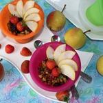 Мюсли и фруктовый мини-десерт