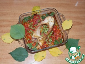 Рецепт Рыбка на помидорной подушке