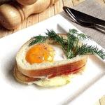 """""""Вкусный"""" бутерброд с яичницей в СВЧ"""