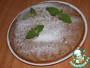 Рецепт Шоколадный пирог с яблоком, маком и кокосом