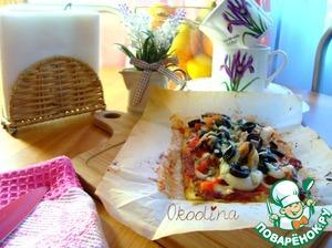 "Рецепт ""Пицца"" на кабачковой основе с морепродуктами"