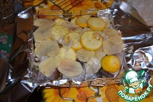 Рецепт Щука с овощами на костре
