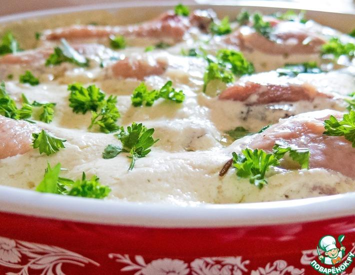 Рецепт: Курица с чесноком на рисе