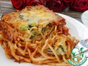 Рецепт Спагетти со шпинатом и адыгейским сыром