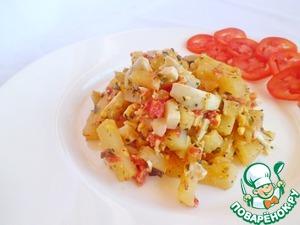 Рецепт Вкуснейшая жареная картошка с ароматной заправкой