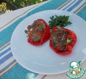 Рецепт Острые лодочки из перца с мясной начинкой