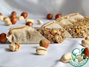 Рецепт Овсяно-ореховые батончики с маком