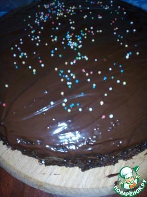 Рецепт Шоколадный торт с творожной начинкой