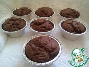 Рецепт Шоколадные маффины с кусочками шоколада