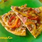 Пицца с баклажанами в аджике