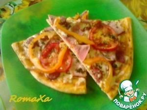 Рецепт Пицца с баклажанами в аджике