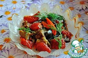 Рецепт Салат из грилованных овощей