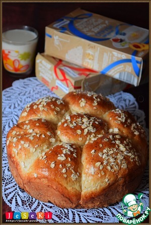 "Рецепт Отрубной хлеб ""Ромашка"""