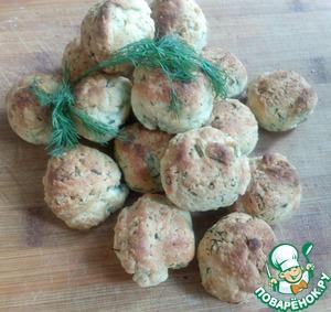 Сырное печенье с зеленью простой рецепт приготовления с фото