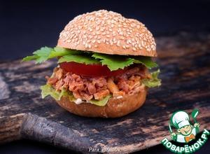 Рецепт Бургер с тушеной свининой