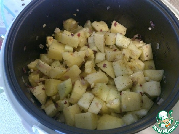 рецепт окорочков с кабачками в мультиварке