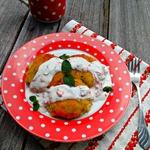 Овощные котлетки с сулугуни и йогуртовым соусом