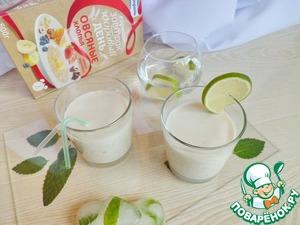 Рецепт Кефирный коктейль с зеленым чаем и лаймом