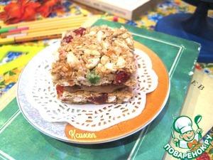 """Рецепт Батончики-мюсли """"Сэндвичи с карамелью"""""""