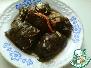 Рецепт Долма на овощной подушке