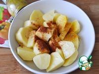 Пряный золотистый картофель в микроволновке ингредиенты