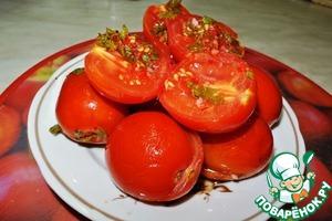 Рецепт Квашеные помидоры с начинкой
