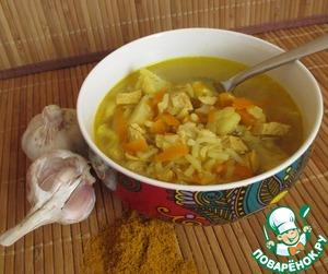 """Рецепт Суп """"Индейка-карри"""" с цветной капустой"""