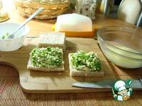 Сэндвич с сыром и зеленью ингредиенты