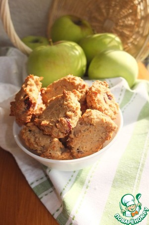 Рецепт Овсяное печенье с вяленой вишней