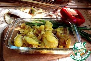 Рецепт Жареная картошка с копченым салом в СВЧ